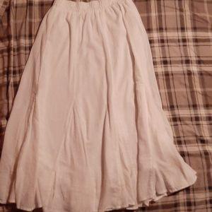 100% Cotton Chicos White Maxi Skirt